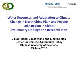 Jikun  Huang,  Jinxia  Wang and  Lingling Hou Center for Chinese Agricultural Policy
