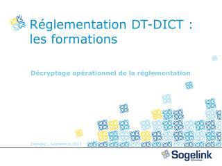 Réglementation DT-DICT :  les formations