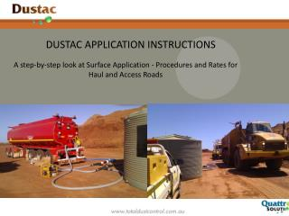 A step-by-step look at Surface Application - Procedures and Rates for Haul and Access Roads
