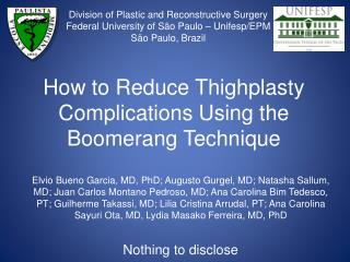 How to Reduce Thighplasty Complications Using the Boomerang Technique