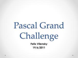 Pascal Grand Challenge