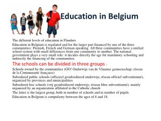 Education  in  Belgium