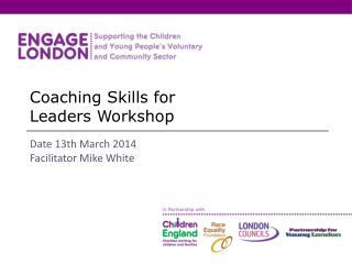 Coaching Skills for  Leaders Workshop