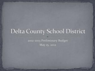 Delta County School District