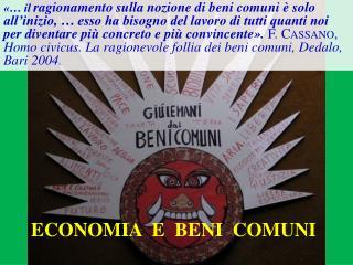 ECONOMIA  E  BENI  COMUNI