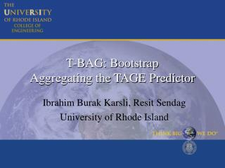 T-BAG: Bootstrap  Aggregating the TAGE Predictor