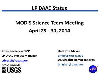 LP DAAC Status