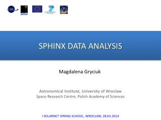SPHINX DATA ANALYSIS