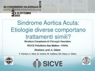 Sindrome Aortica Acuta: Etiologie diverse comportano trattamenti simili?