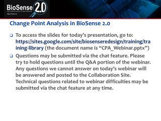 Change Point Analysis in  BioSense 2.0