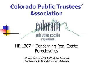 Colorado Public Trustees' Association