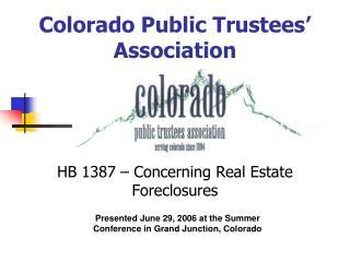 Colorado Public Trustees' Association