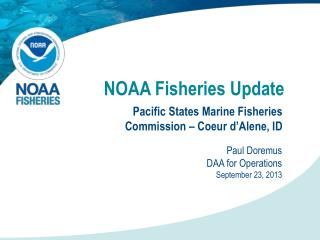 NOAA Fisheries Update
