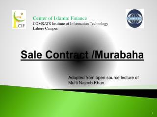 Sale Contract / Murabaha