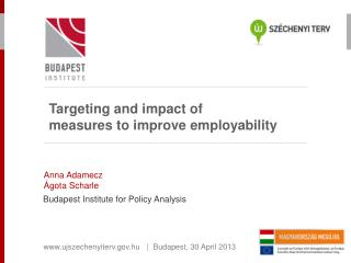 Targeting and impact of  measures to improve employability