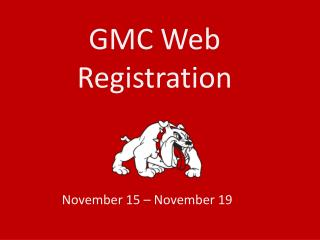 GMC Web Registration