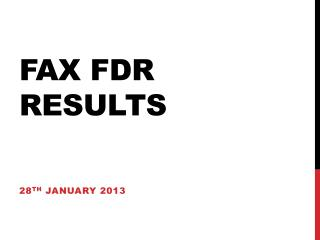 FAX FDR results