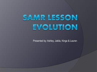 SAMR Lesson Evolution