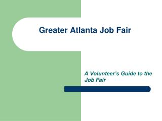 Greater Atlanta Job Fair