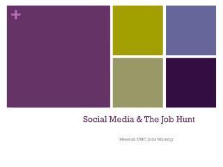 Social Media & The Job Hunt