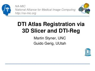 DTI Atlas Registration via 3D Slicer and DTI- Reg