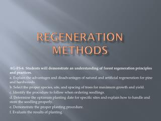Regeneration Methods