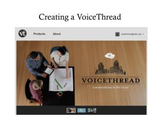 Creating a  VoiceThread