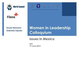 Women in Leadership Colloquium