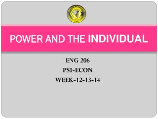 POWER AND THE  INDIVIDUAL