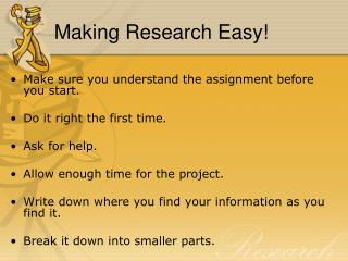 Making Research Easy!