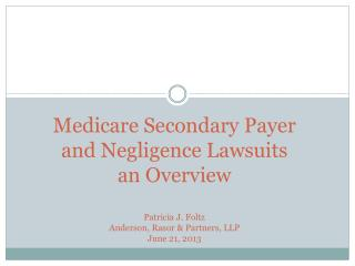 Medicare�s Right of Recovery