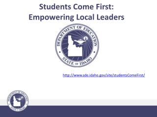Students Come First: Empowering Local Leaders