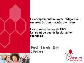 Mardi  18  février  2014 à  Poitiers