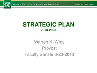 STRATEGIC PLAN 2013-2020