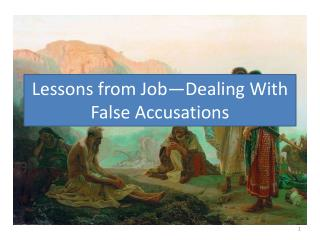 Lessons from Job—Dealing With False Accusations