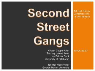 Second Street  Gangs