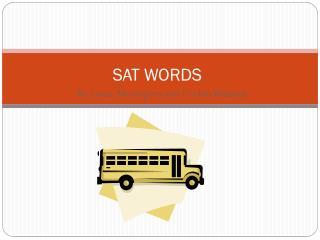 SAT WORDS