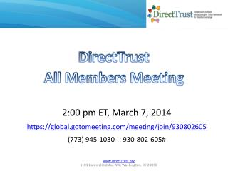 DirectTrust All Members Meeting