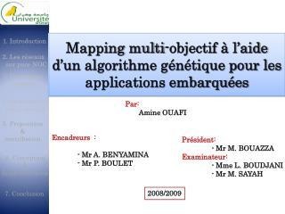 Mapping multi-objectif à l'aide d'un algorithme génétique pour les applications embarquées
