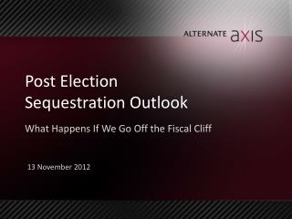 Post Election  Sequestration Outlook