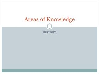Areas of Knowledge