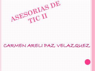 ASESORIAS  DE TIC II