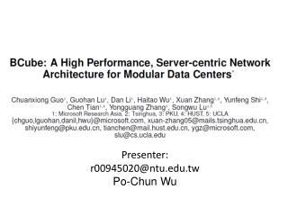 Presenter: r 00945020 @ntu.edu.tw Po-Chun Wu