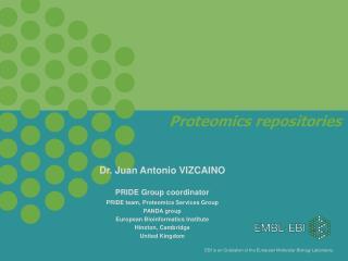 Proteomics repositories