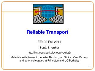 Reliable Transport