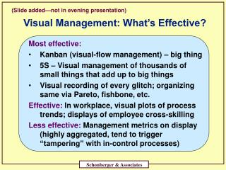 Visual Management: What s Effective