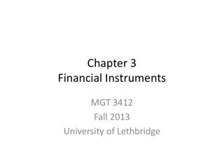Chapter 3 Financial Instruments