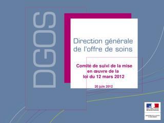 Comité de suivi de la mise  en œuvre de la  loi du 12 mars 2012 20 juin 2012
