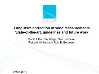 Long-term correction of wind measurements State-of-the-art, guidelines and future work