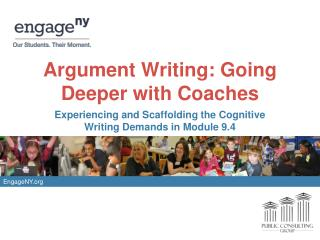 Argument Writing: Going Deeper with Coaches